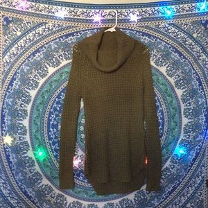 Army green long sweater from RUE21